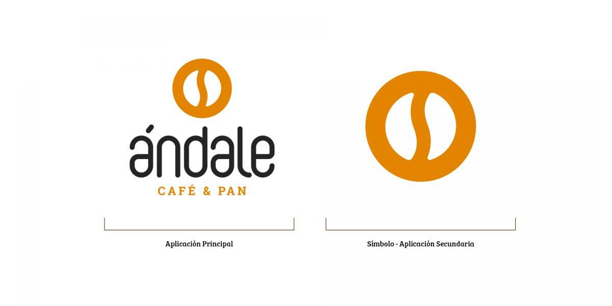Ándale Café y Pan - Logos a fondo blanco
