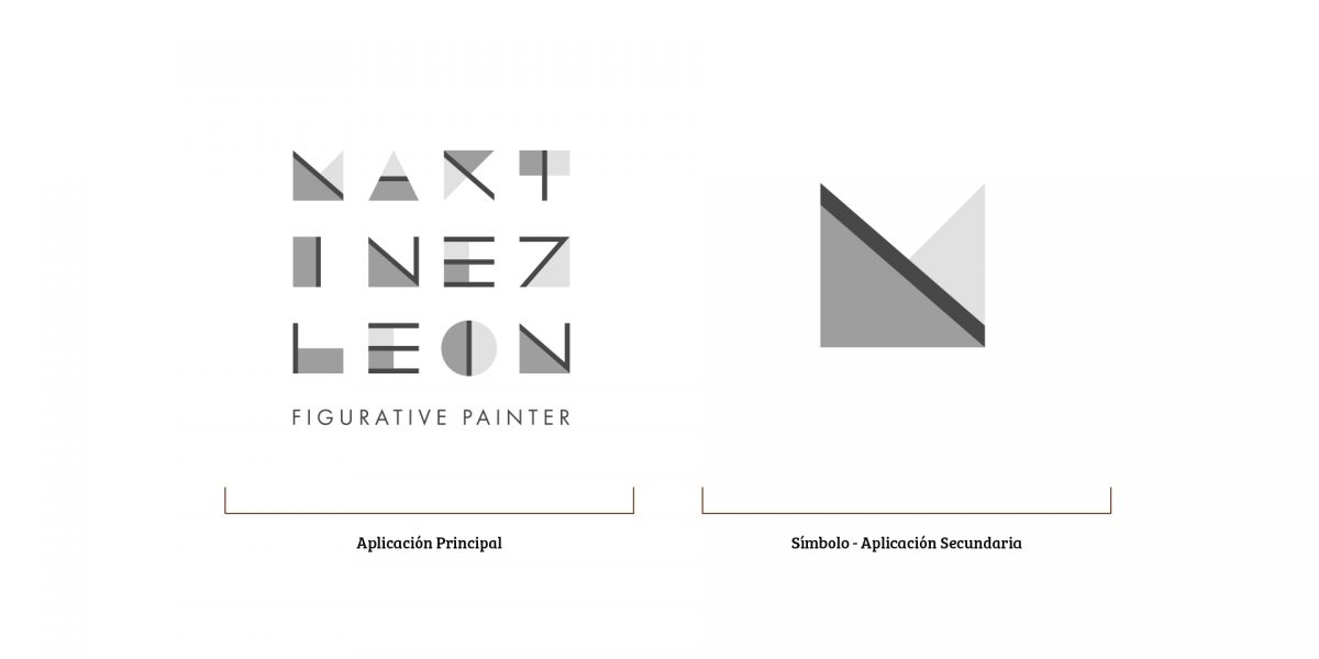 Martínez León - Versión Principal y Secundaria del Logo