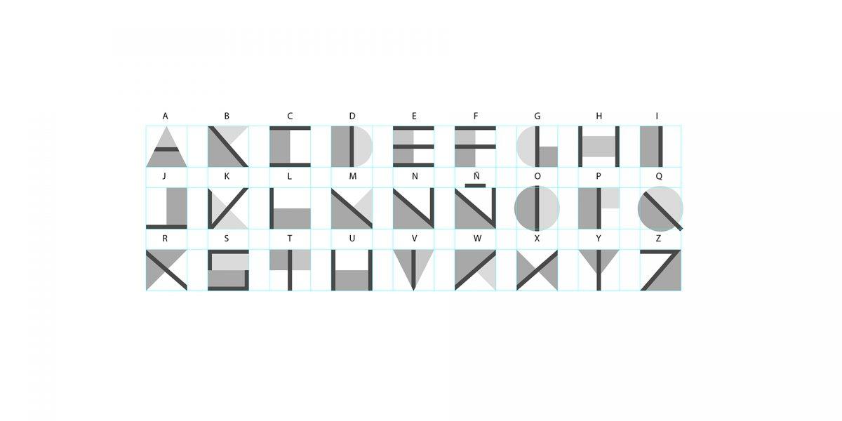 Alfabeto de la marca Martínez León